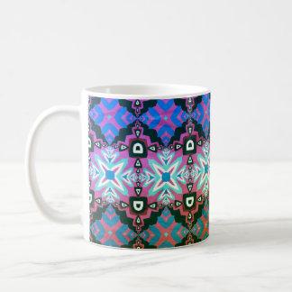 Mooie kleuren, geometrisch patroon Nr 67 Koffiemok