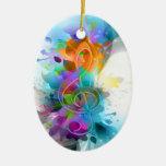 Mooie kleurrijk en koel ploetert muzieknota ornament