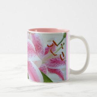 Mooie Lillies Tweekleurige Koffiemok
