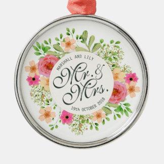 Mooie M. en Mevr. Floral Wedding | Ornament