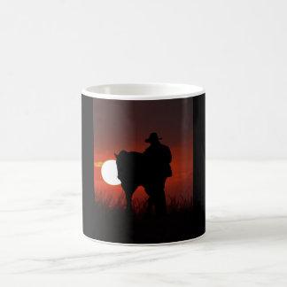 Mooie Mok - Cowboy/Paard in Zonsondergang