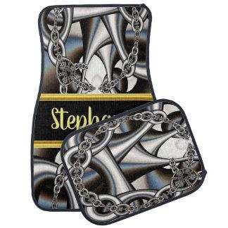 Mooie monogram abstracte zilveren kettingen in automat