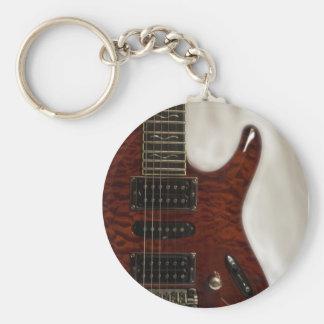 Mooie Muziek--Ibanez Basic Ronde Button Sleutelhanger