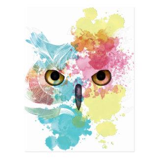 Mooie Oog van de Uil van de Fantasie van Wellcoda Briefkaart