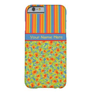 Mooie Oranje Goudsbloemen, iPhone 6 van Strepen Barely There iPhone 6 Hoesje