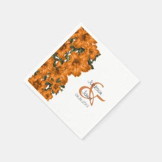 Mooie Oranje Lelies Papieren Servetten