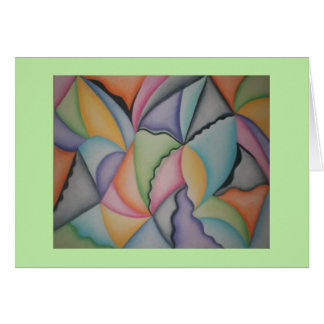 Mooie pastelkleurpiramides notecard briefkaarten 0