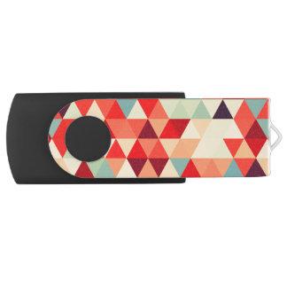 Mooie patroon II van de Driehoek + uw ideeën Swivel USB 2.0 Stick