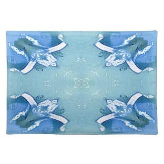 Mooie Personaliseerbare Schaduwen van Blauw Placemat