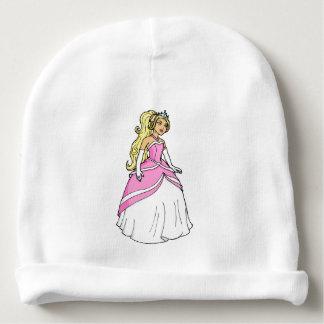 Mooie Prinses in het Roze Afbeelding van het Baby Mutsje