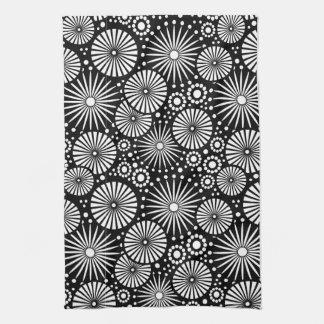 Mooie retro zwart-witte Handdoek