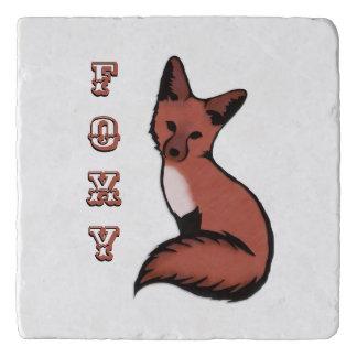 Mooie Rode Foxy Vos Trivet