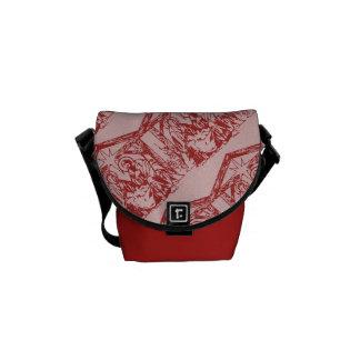 Mooie Rode Geboorte van Christus Messenger Bags