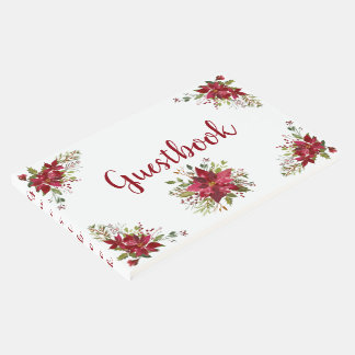 Mooie Rode Poinsettia Guestbook