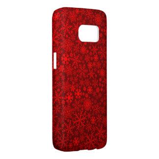mooie rode sneeuwvlok samsung galaxy s7 hoesje