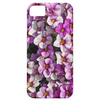 Mooie roze en paarse petunia bloemendruk barely there iPhone 5 hoesje