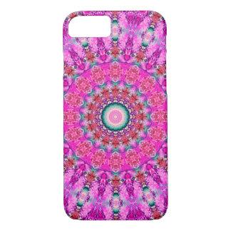 Mooie Roze en Rode Mandala iPhone 8/7 Hoesje