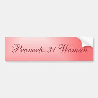 Mooie Roze Gezegden 31 van de Gradiënt Vrouw Bumpersticker