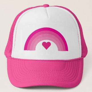 Mooie roze regenboog & hartpet trucker pet