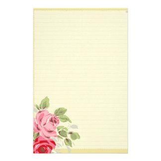 Mooie Rozen op Gevoerde Kantoorbehoeften Als achte Persoonlijk Briefpapier