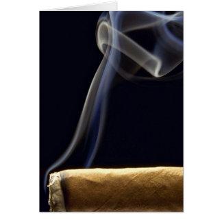 Mooie Sigaar met rook Kaart