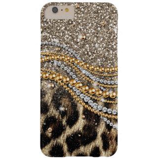 Mooie trendy luipaard faux dierlijke druk iPhone 6 plus barely there hoesje