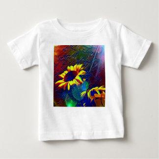Mooie Trillende Artistieke Zonnebloemen Baby T Shirts