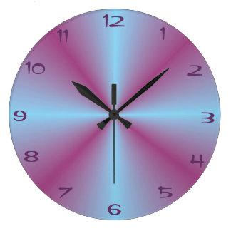 Mooie Verlicht > Gevormde Roze Aqua Klok