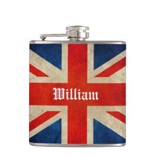 Mooie Vintage Britse Vlag Union Jack - de Naam van Heupfles