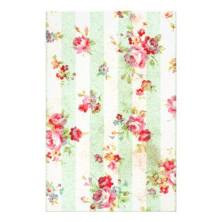 Mooie vintage rozen en andere bloemen aangepast briefpapier