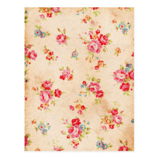 Mooie vintage rozen en andere bloemen briefkaart
