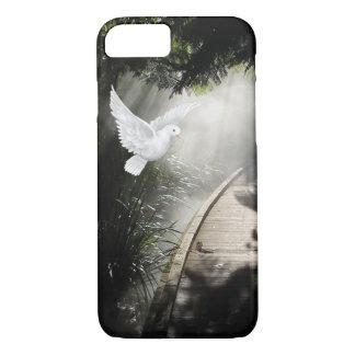 Mooie vliegende duif in zonnestraal iPhone 7 hoesje