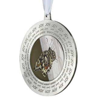 Mooie Vlinder, Rond Ornament Tin Rond Ornament