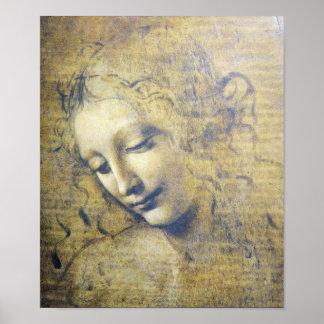 Mooie Vrouw door de druk van Leonard Davinci Poster