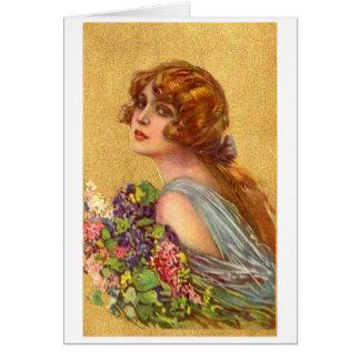 Mooie Vrouw met Bloemen, Briefkaarten 0