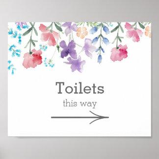Mooie Wildflowers | Teken van de Toiletten van het Poster