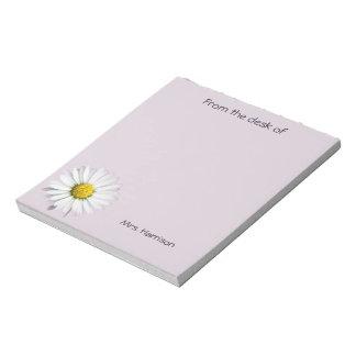 Mooie Witte en Gele Daisy Notitieblok