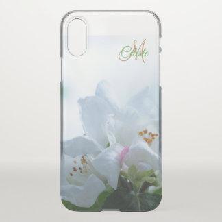 Mooie Witte iPhone X van het Monogram van Rozen