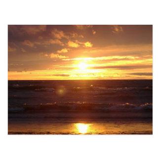 Mooie Zonsondergang op Meer Erie Briefkaart