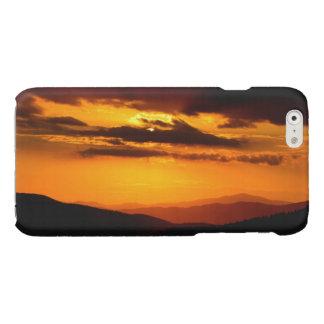 Mooie zonsondergangfoto glossy iPhone 6 hoesje
