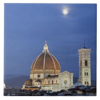 Moonrise en de Kathedraal van Florence, Di van de  Keramisch Tegeltje