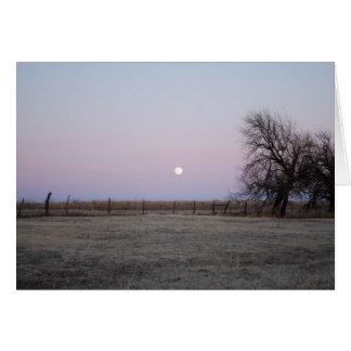 Moonrise in Kansas Wenskaart