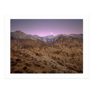 """Moonset op Mt. Whitney "" Briefkaart"
