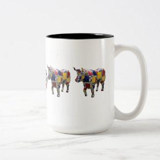 """""""Mooo'ndrian"""" 15 ozmok Tweekleurige Koffiemok"""