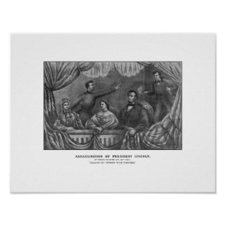 Moord van President Lincoln Poster