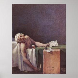 Moorde Marat door Jacques-Louis David Poster