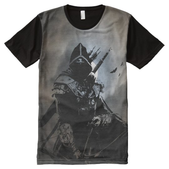 Moordenaar ninja all over print t shirt zazzle for All over printing t shirts