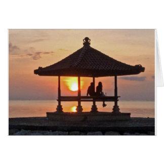 Moring in het Eiland van Bali Briefkaarten 0