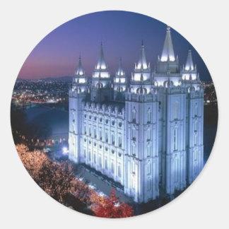 Mormoonse Tempel Ronde Sticker