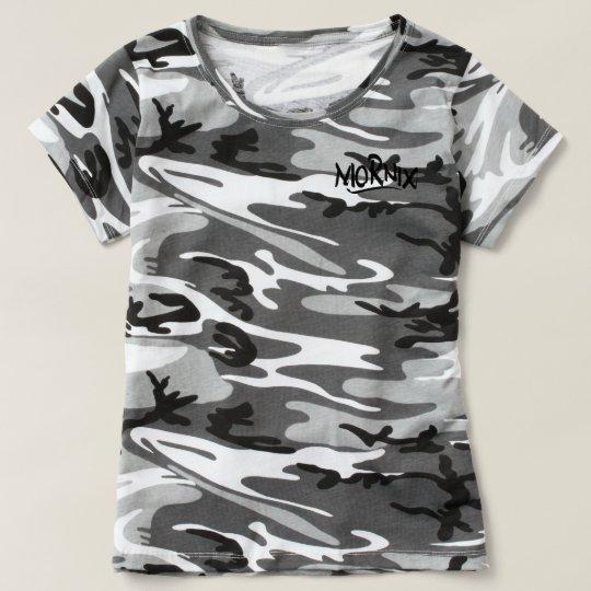 Mornix Camo shirt women white/black